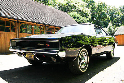 1968 Dodge Charger R/T 440 Big Block Stunning Black American Classic Clone Car