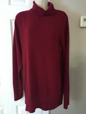 2fb376a67d964 Oh Baby by Motherhood Maternity Red Turtleneck Long Sweater EUC Size XLarge  XL