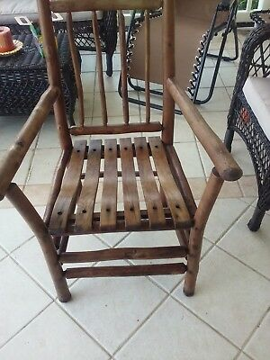antique old hickory arm chair made in Indiana