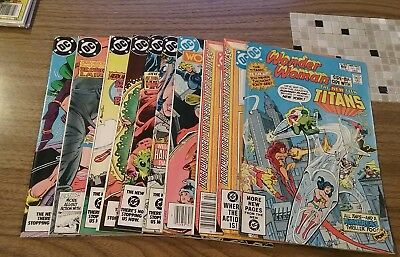 Wonder Woman #287,291,293,309,315,317-321 (Dc Copper Lot Nice Shape Huntress