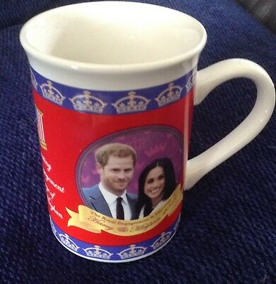 Royal Wedding Cup Mug May 2018 Prince Harry Meghan Markle Souvenir Gift Cup