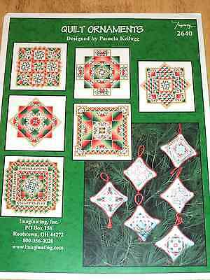 Imaginating QUILT ORNAMENTS Counted Cross Stitch Pattern CHRISTMAS