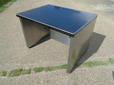 Lovely Vintage / Industrial Metal Desk Stripped & Polished Delivery Available.