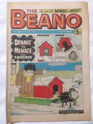DC Thompson THE BEANO Comic. Issue 1688 November 23rd 1974 **Free UK Postage**