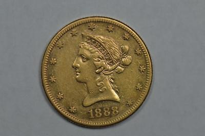 $10.00 Gold 1888-S VF/EF Lot 336
