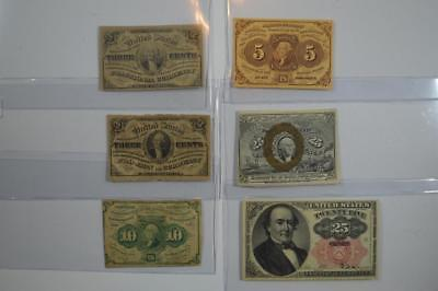 Collection of Fractional Currency Lot 114