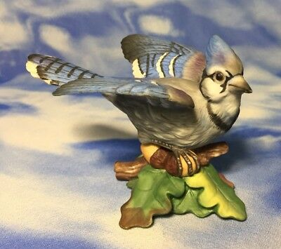 "Rare Beautiful Vintage HC Hamilton Collection ""Blue Jay"" Bird Figurine 1987 EVC"