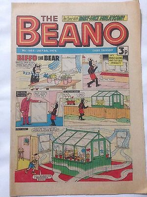DC Thompson THE BEANO Comic. Issue 1668 July 6th 1974 **Free UK Postage**