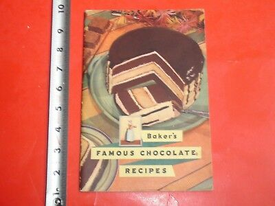 HS602 Vintage RARE 1936 Walter Baker & Co Famous Chocolates Recipe Booklet