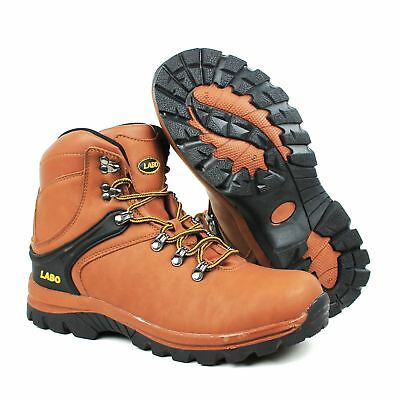 LABO Men 14526 Brown Work Safety  Boots