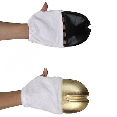 Child/Adult Gold Unicorn Pegasus Front Hooves Halloween Glove Costume Accessory