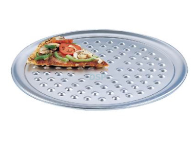 """Aluminium Nib Pizza Tray Pizza Serving commercial Pan thincrust Size 6to20"""" inch"""