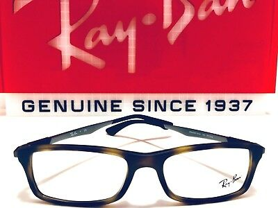 d0501dbfd6 Ray-Ban Eyeglasses RB 7017 5200 Matte Havana w  Gray Rx Frame New 56mm