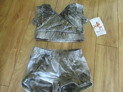 NWT BAL TOGS 2 PC DANCEWEAR OUTFIT   SZ Petite ( EXTRA SMALL?)