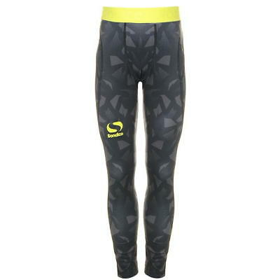 Boys Black Lite Compression Base Layer Sondico BLAZE Skins Tights Pants