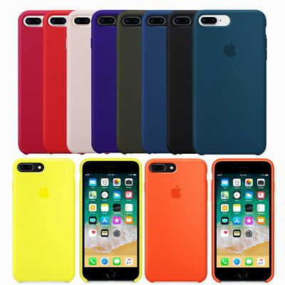 competitive price f06d3 a9411 GENUINE ORIGINAL SOFT Silicone Case Cover For Apple iPhone X 8 Plus 7 7Plus  6 6S