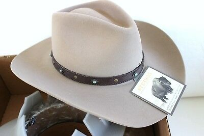 NEW STETSON 4X SUNSET RIDE Western Cowboy Hat D4 RANCH TAN 7 1 8 NIB ... b32a3aeda13