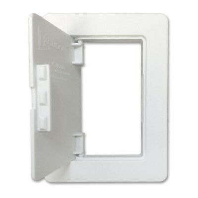 ACCESS PANEL 4 in. x 6 in. Plastic Wall and Ceiling Removable Snap Hinged Door