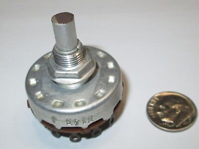 Mallory Rotary Switch  4 Pole - 3  Positions   Shorting   1 Pcs.  Nos