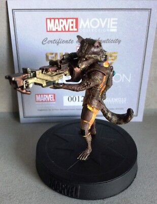 MARVEL MOVIE COLLECTION BONUS #1 Rocket Racoon FIGURINE GUARDIANS OF GALAXY REP.