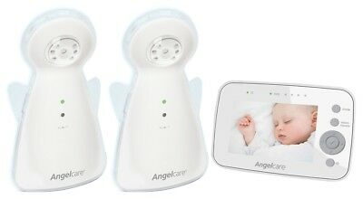 Angelcare Digital Video & Sound Monitor AC1320 + BONUS Additional Camera - Clear