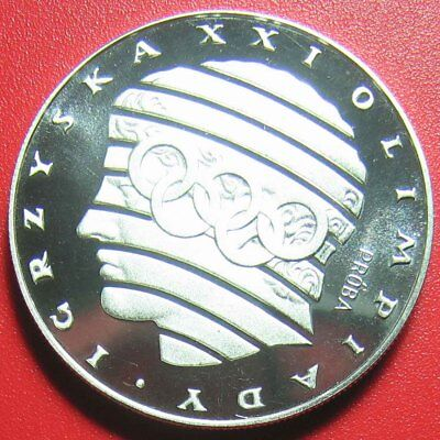 "1976 Poland 200 Zlotych ""proba"" Silver Proof Stylized Head Rings M=6,060 Coins!"