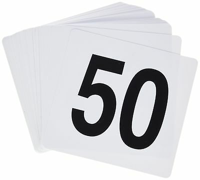 Winco TBN-50 1-50 Plastic Table Numbers New