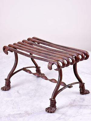 Antique French garden footstool