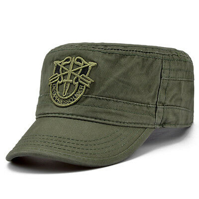Beret Us Army Special Forces Green Cap Airborne Military Boina Visor Hats