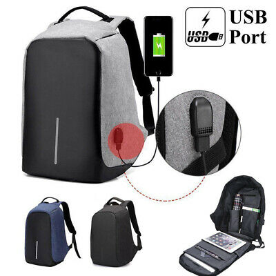 Anti-Theft Travel Bag Laptop Backpack w/ USB Port Travel Busines Water Repellent