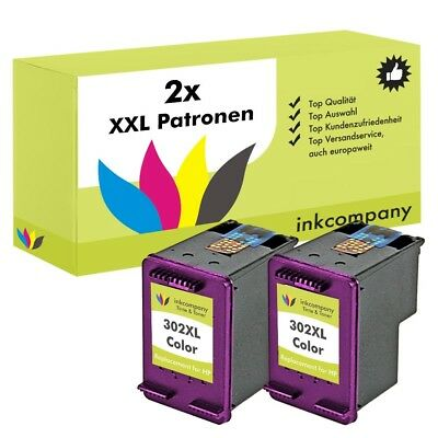 2x CARTUCCE HP 302 XL COLOR Officejet 4654 3830 3834 4650 DESKJET 2130 3630 1110