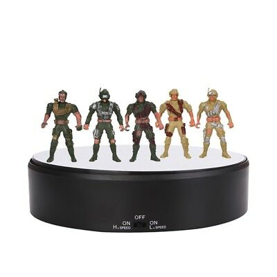 14cm Toy DISPLAY ROTATING TURNTABLE 360 DEGREE BASE 3D LED STAND TURN TABLE UK