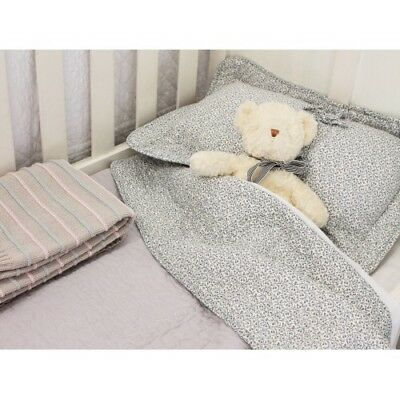 Brand New Soft grey Cot quilt + pillow cover set