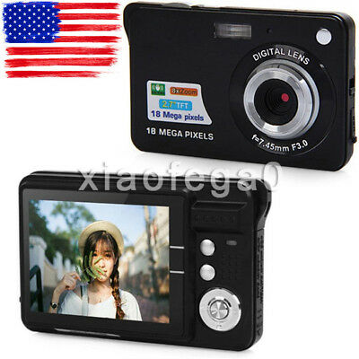 "2.7"" Amkov LCD Mini Full HD 18MP Digital Camera Video Recorder DV Cam Black USA"