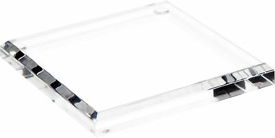"""Plymor Brand Clear Acrylic Square Beveled Display Base.5"""" H x 4"""" W x 4"""" D New"""