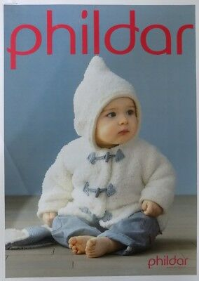 Phildar Chunky Baby Hooded Jacket Coat Cardigan Knitting Pattern - 3-24 months