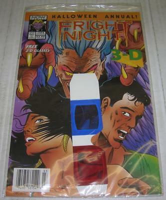 FRIGHT NIGHT RARE SEALED POLYBAG 3-D HALLOWEEN ANNUAL (Now Comics 1993) (VF-)