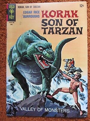 Korak Son of Tarzan Gold Key comic by Edgar Rice Burroughs no. 17 June 1967 EF