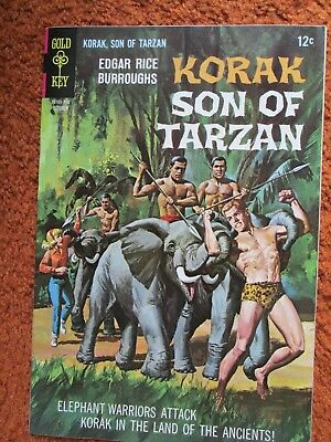 Korak Son of Tarzan Gold Key comic by Edgar Rice Burroughs no. 19 Oct 1967 VF