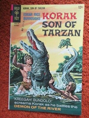 Korak Son of Tarzan Gold Key comic by Edgar Rice Burroughs no. 20 Dec 1967 EF