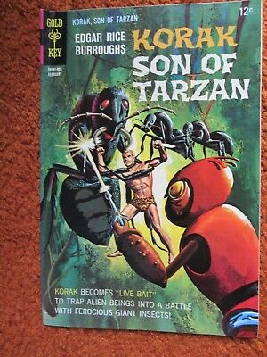Korak Son of Tarzan Gold Key comic by Edgar Rice Burroughs no. 21 Feb 1968 VF