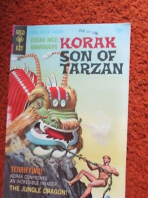Korak Son of Tarzan Gold Key comic by Edgar Rice Burroughs no. 22 April 1968 EF