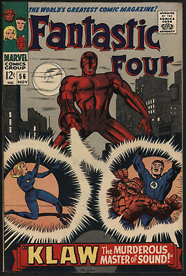 Fantastic Four #56 Nov 1966. Tight Structure, Off White/ White Pages
