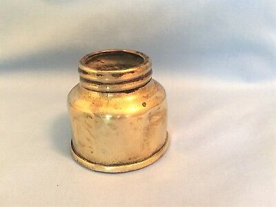 RARE Early GRIER or SIMMONS 3-Rib Miners Carbide Lamp Base, Vintage Mining Light