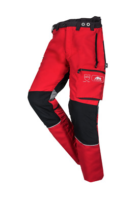 SIP Innovation II - Type C CHAINSAW protection Trousers in Red - 1SPW
