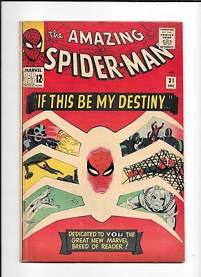 The Amazing Spider-Man #31 ==> Fn 1St Appearance Of Gwen Stacy Marvel Comic 1965
