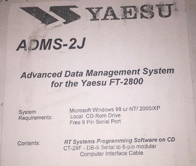 RT-SYSTEMS ADMS-M400-U PROGRAMMING Software Only for FTM-400