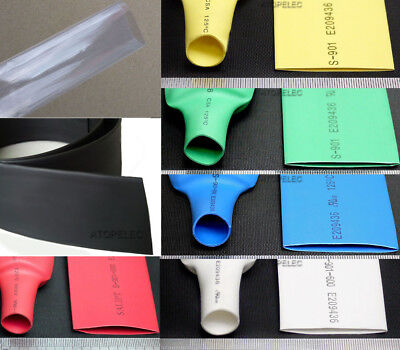 1M Polyolefin 2:1 Heat Shrink Tubing Wrap Wire Cable Sleeve ROHS UL 20mm-80mm