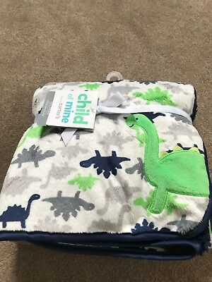 Brand New Plush Dinosaur Baby Blanket from Child of Mine by Carters