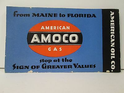 Antique 1936 Amoco Gas President Stamp Album